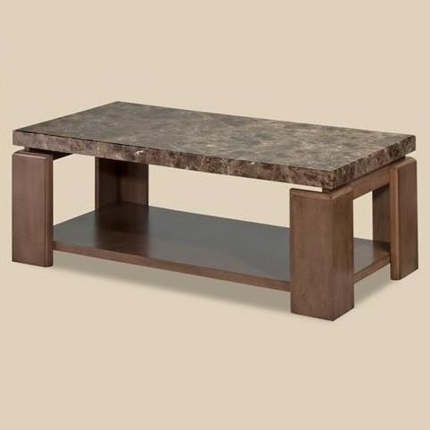 Bernards Waxhaw Contemporary Faux Marble Coffee Table