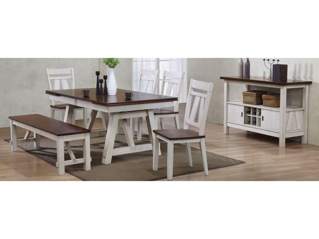 Bernards Winslow6-Piece Table Set with Bench