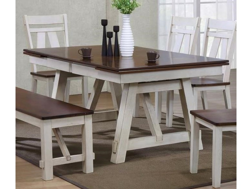 Winslow Refectory Rectangular Dining Table W Self Storing Leaves By Bernards At Wayside Furniture