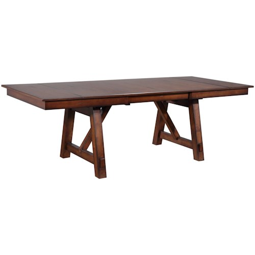 Bernards Winslow Refectory Rectangular Dining Table W SelfStoring - Conference table with leaves