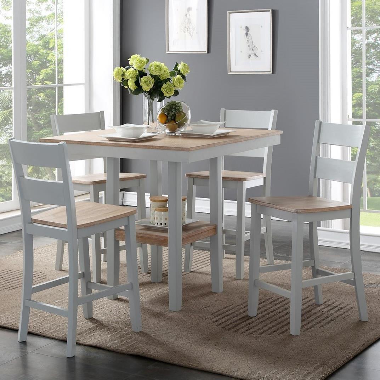 bernards york 5 piece counter table set wayside furniture pub rh wayside furniture com