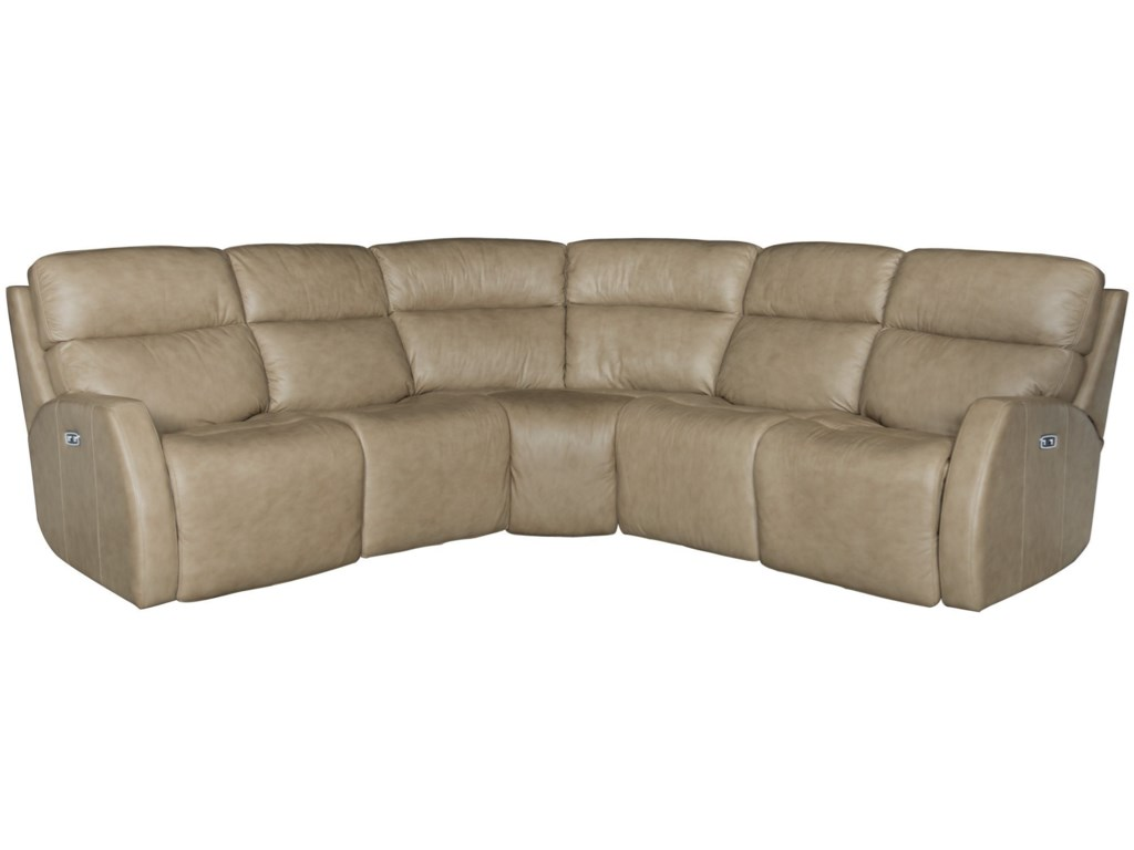 Bernhardt Aaron LeatherPower Motion Sectional
