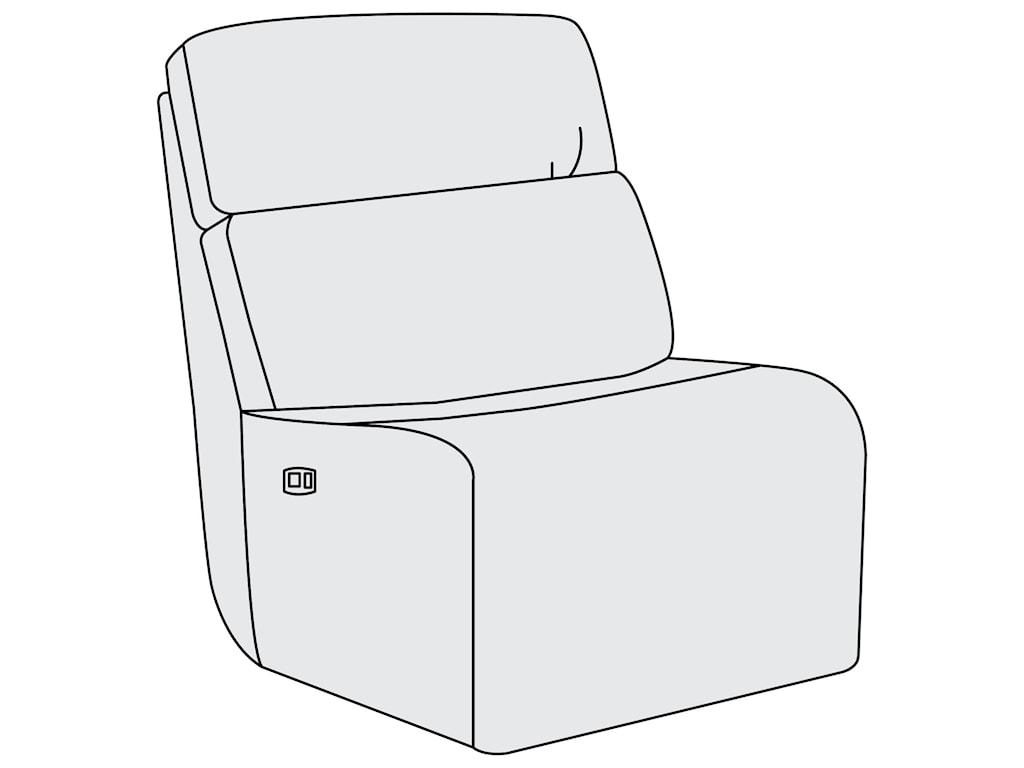 Bernhardt Aaron LeatherPower Motion Armless Chair