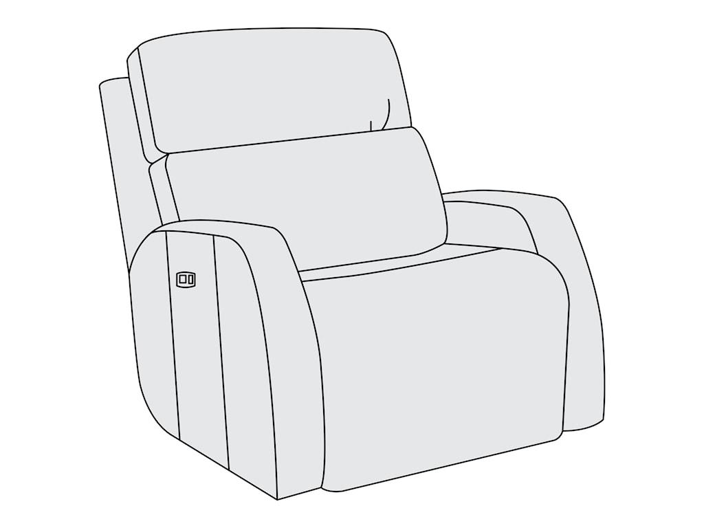 Bernhardt Aaron LeatherPower Motion Chair