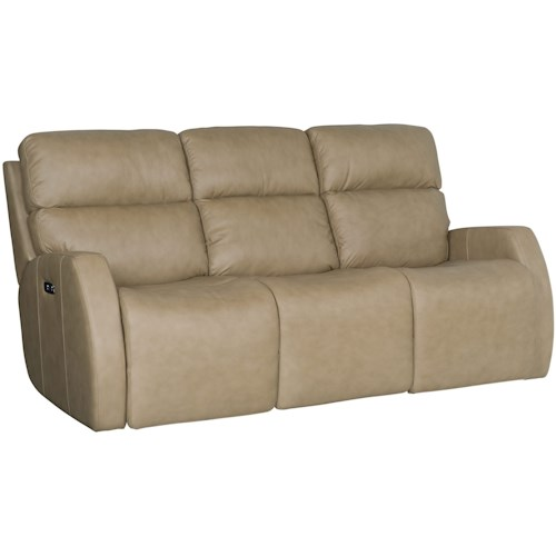 Bernhardt Aaron Leather Contemporary Power Motion Sofa with Dual Reclining Lay-Flat Seats