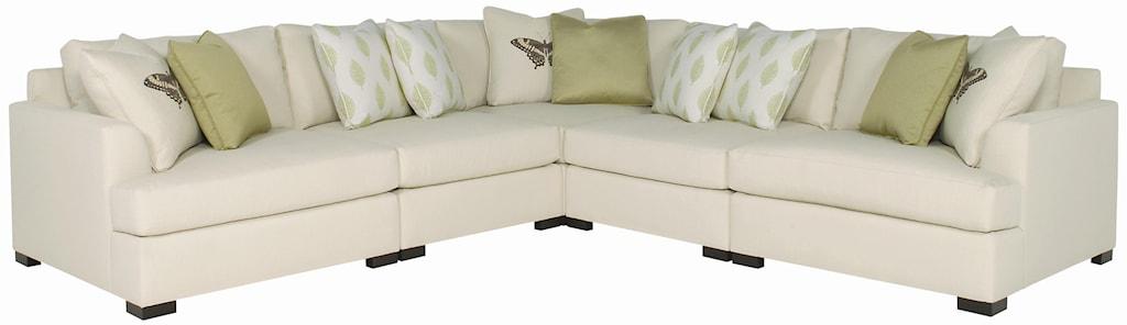 Bernhardt Adriana Five Piece Sectional Sofa Belfort Furniture  ~ Five Piece Sectional Sofa