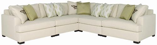 Bernhardt Adriana Five Piece Sectional Sofa