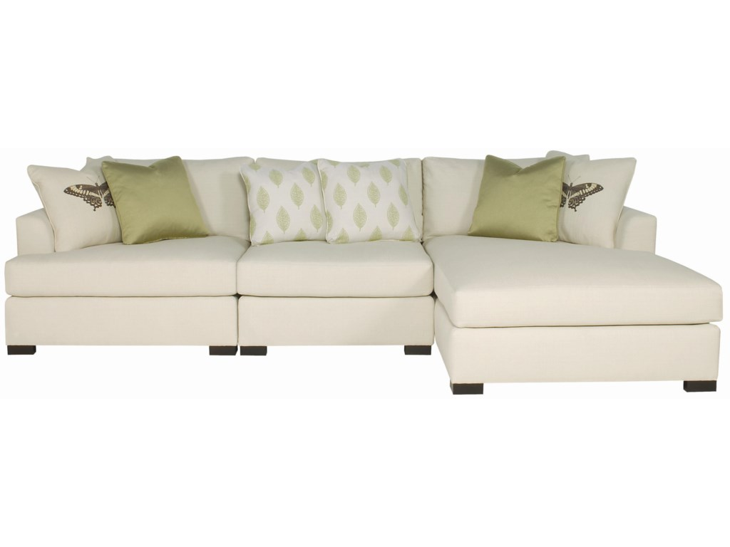 Bernhardt Adriana Sectional Sofa with Chaise Lounger | Belfort ...