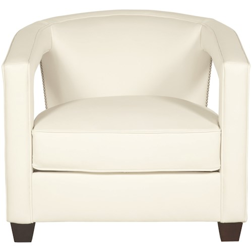 Bernhardt Alana Contemporary Chair with Nailheads