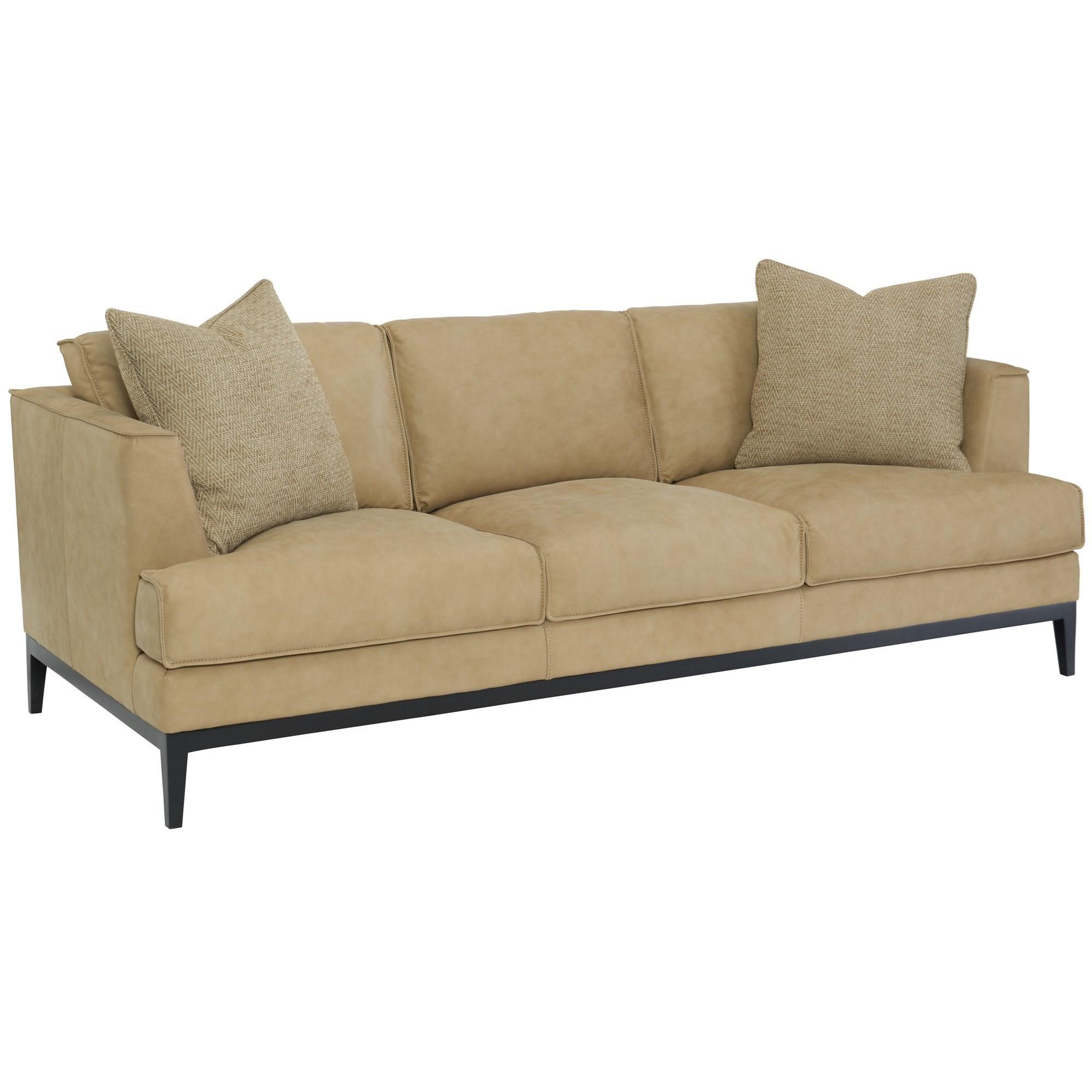 Bernhardt Alford Contemporary Leather Sofa