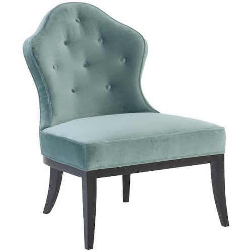Bernhardt Allison Transitional Chair with Button Tufting