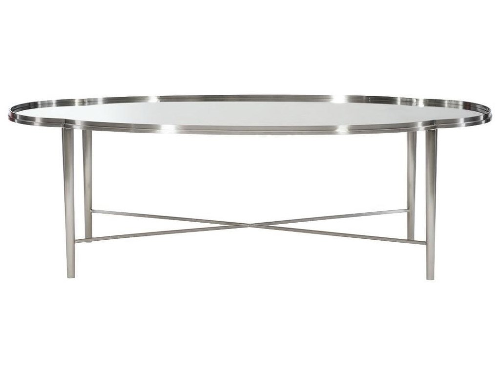 Bernhardt AllureMetal Oval Cocktail Table