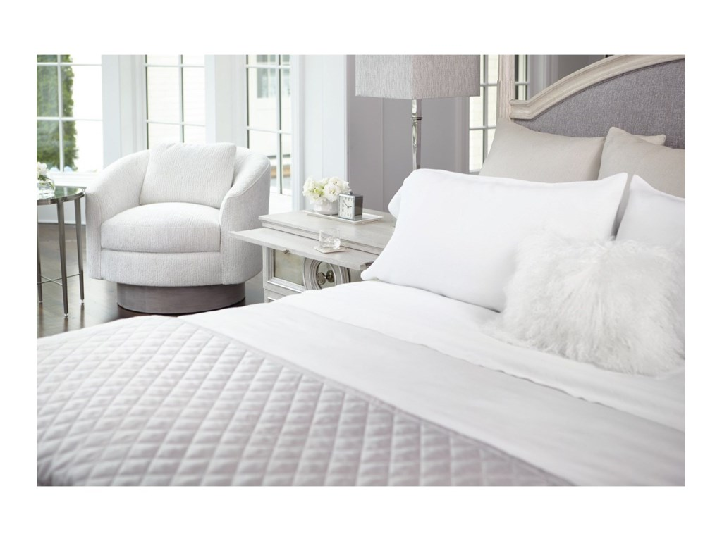 Bernhardt AllureCustomizable Upholstered Panel Queen Bed