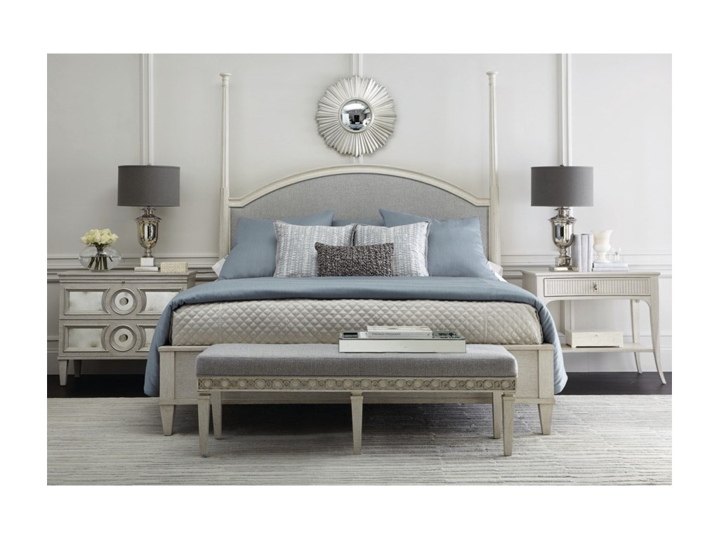 Bernhardt AllureUpholstered Panel King Bed