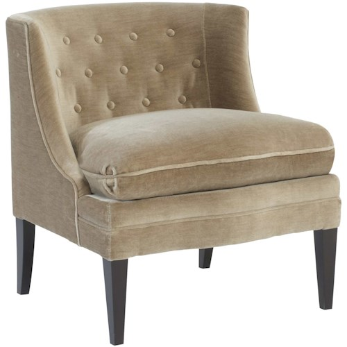 Bernhardt Amber Accent Chair with Button Tufting