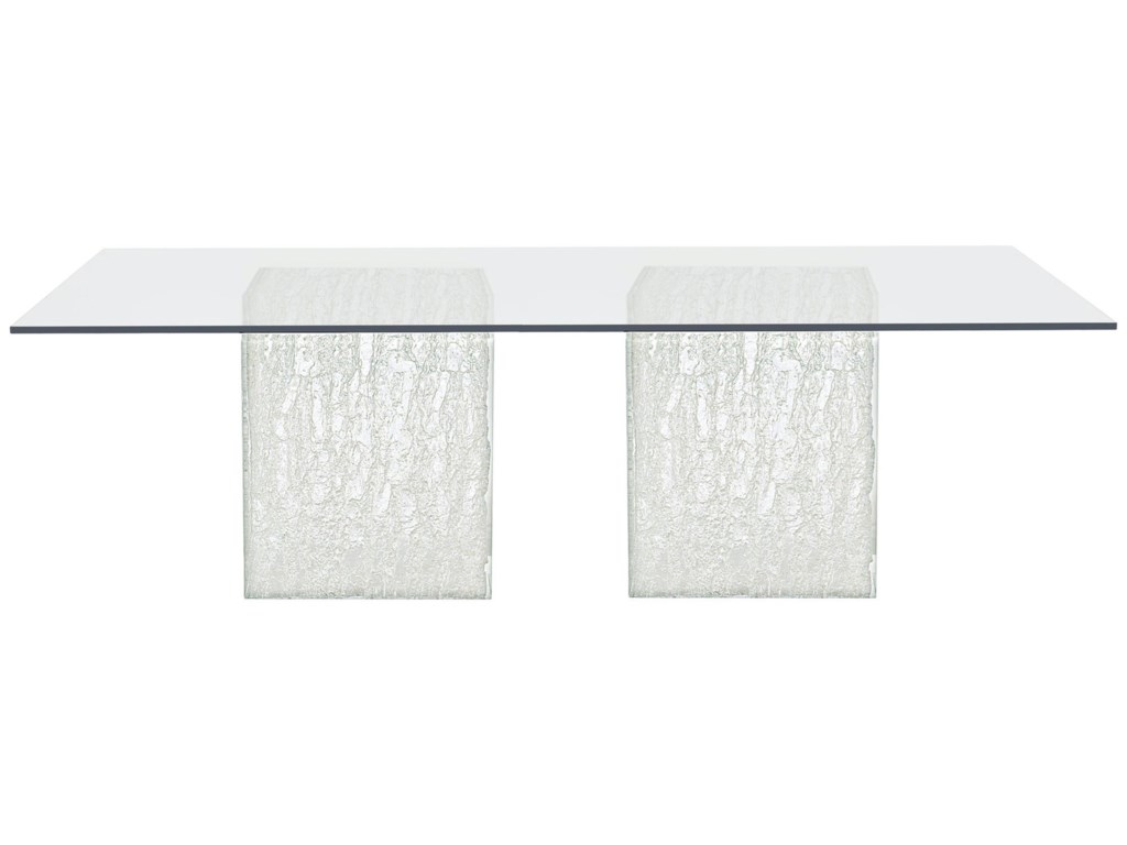 Bernhardt Arctic 326 1050 375 773 Contemporary Rectangular Glass