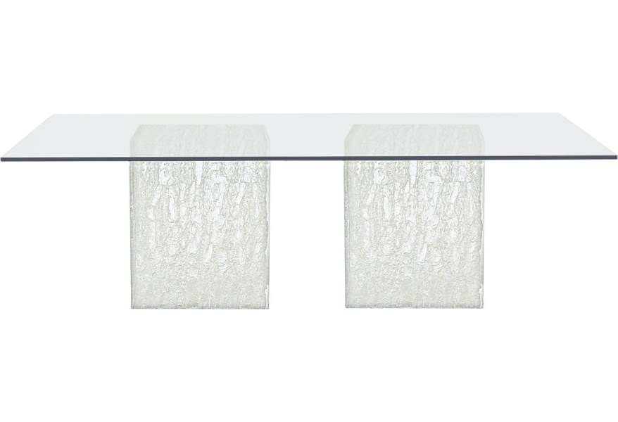 Bernhardt Arctic 326 1050 375 773 Contemporary Rectangular Glass Dining Table Dunk Bright Furniture Dining Tables