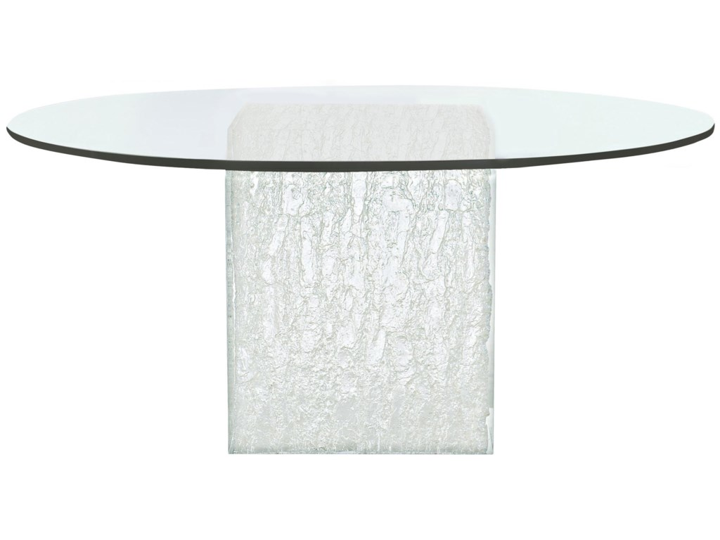 Bernhardt ArcticRound Glass Dining Table
