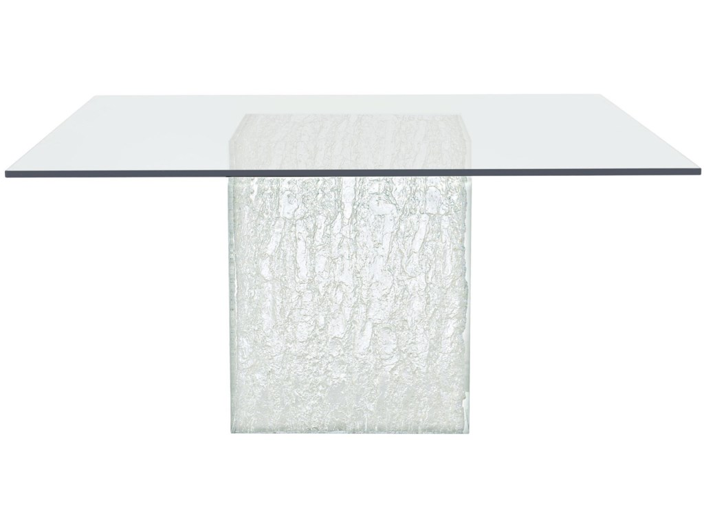 Bernhardt ArcticSquare Glass Dining Table