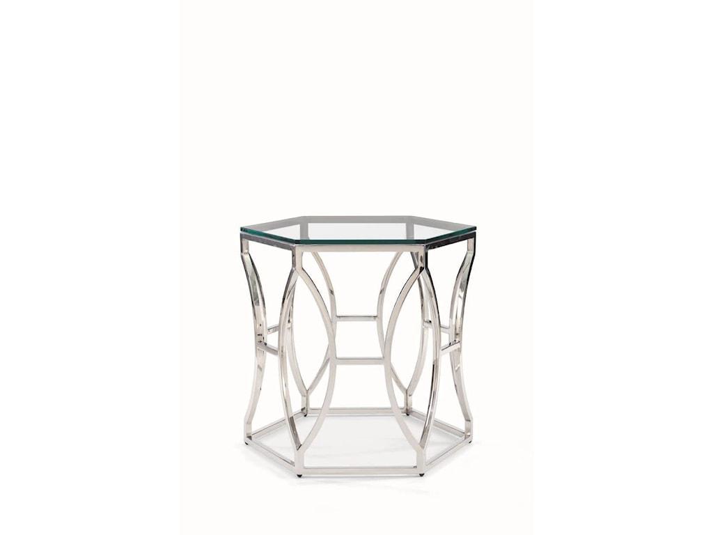 Bernhardt ArgentArgent Glass Side Table