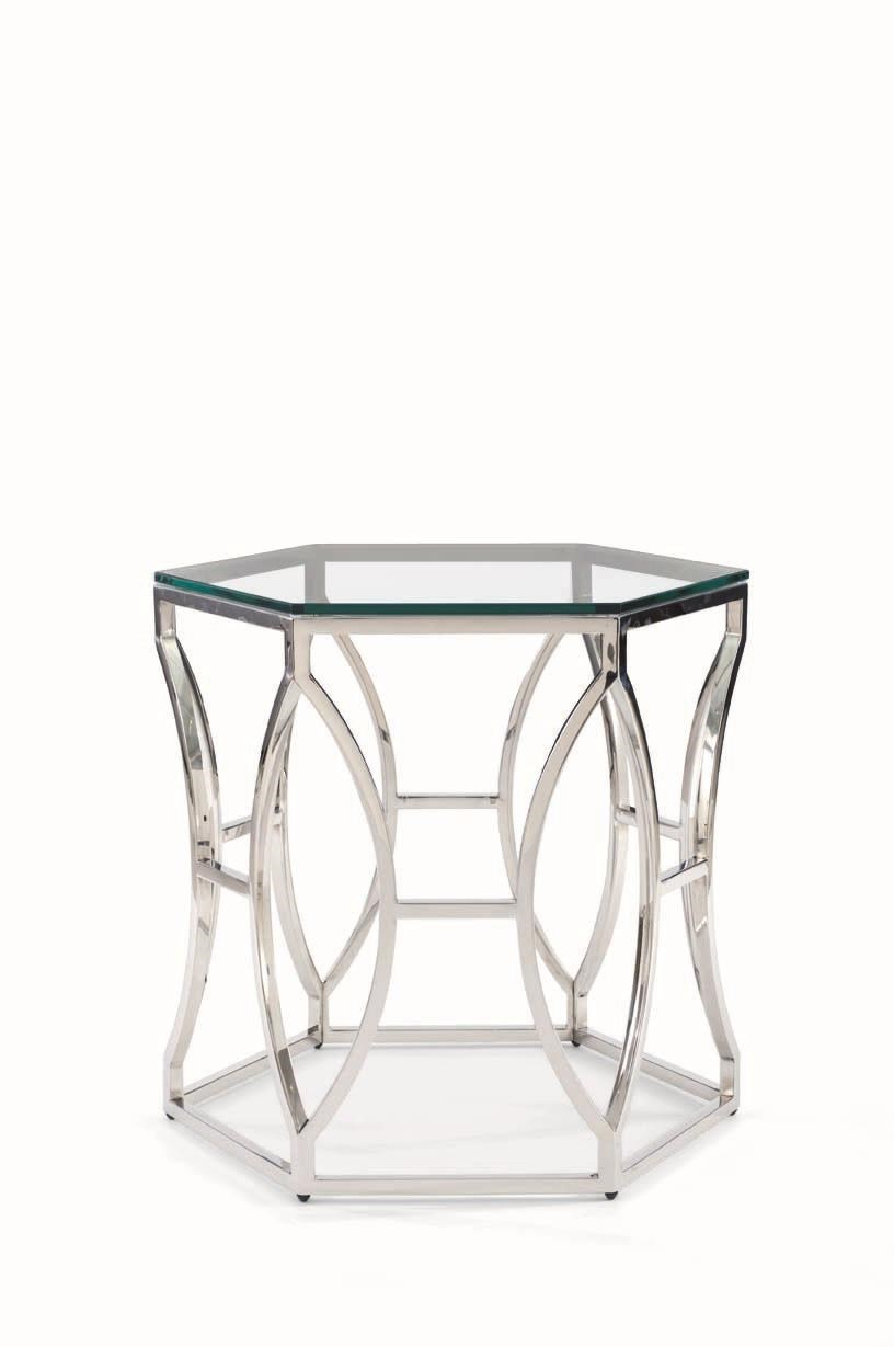 Superieur Bernhardt ArgentArgent Glass Side Table