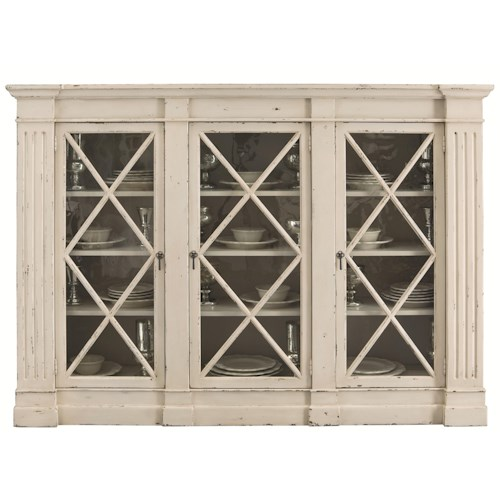 Bernhardt Auberge 3 Door Display Cabinet with Wood Grille