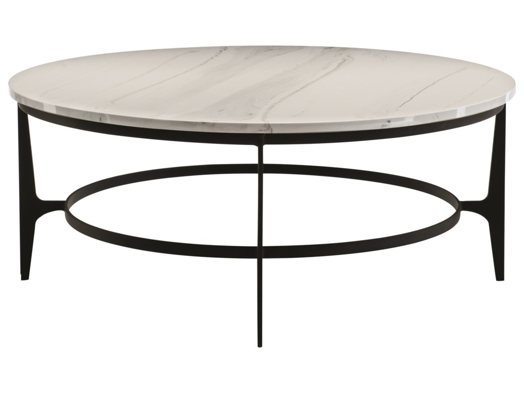 Bernhardt AvondaleOval Metal Cocktail Table