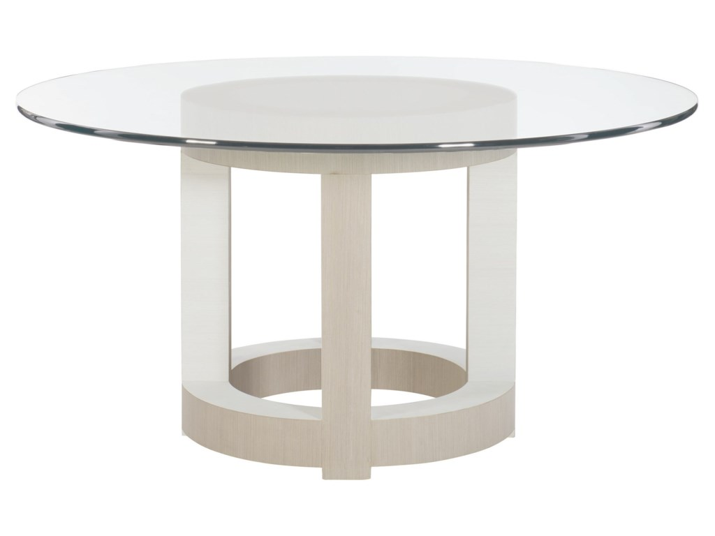 Axiom Contemporary Round Dining Table by Bernhardt at Baer\'s Furniture
