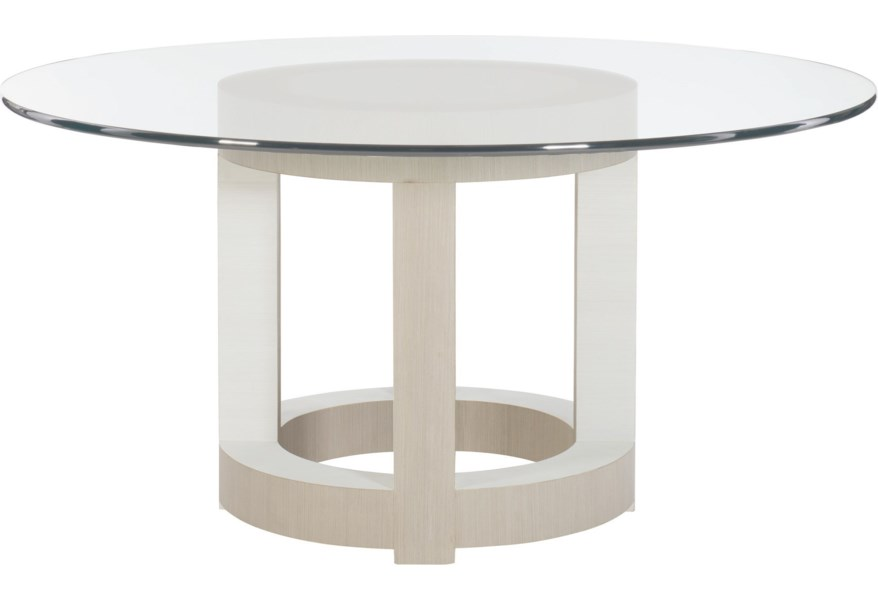 Axiom Contemporary Round Dining Table by Bernhardt at Dunk & Bright  Furniture