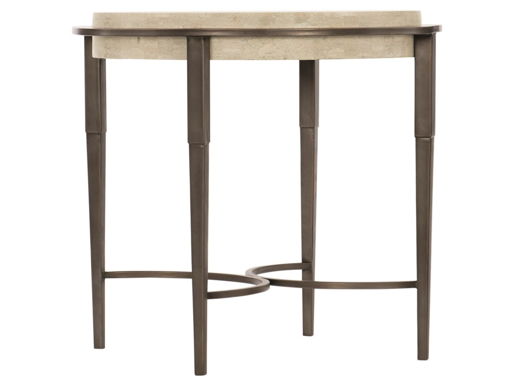 Bernhardt BarclayMetal Round Chairside Table