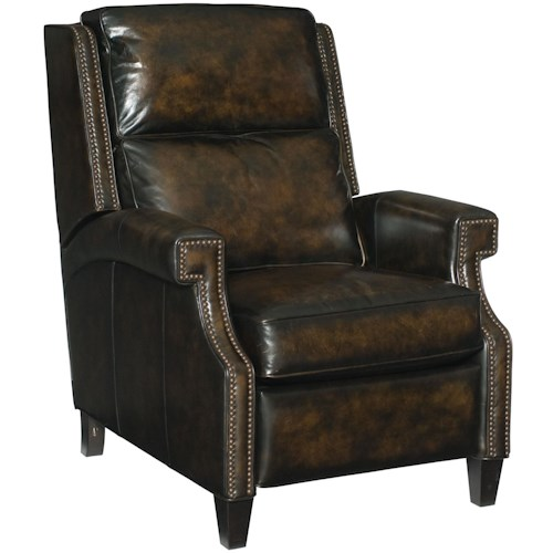 Bernhardt Barrett High Leg Recliner with Nail Head Trim