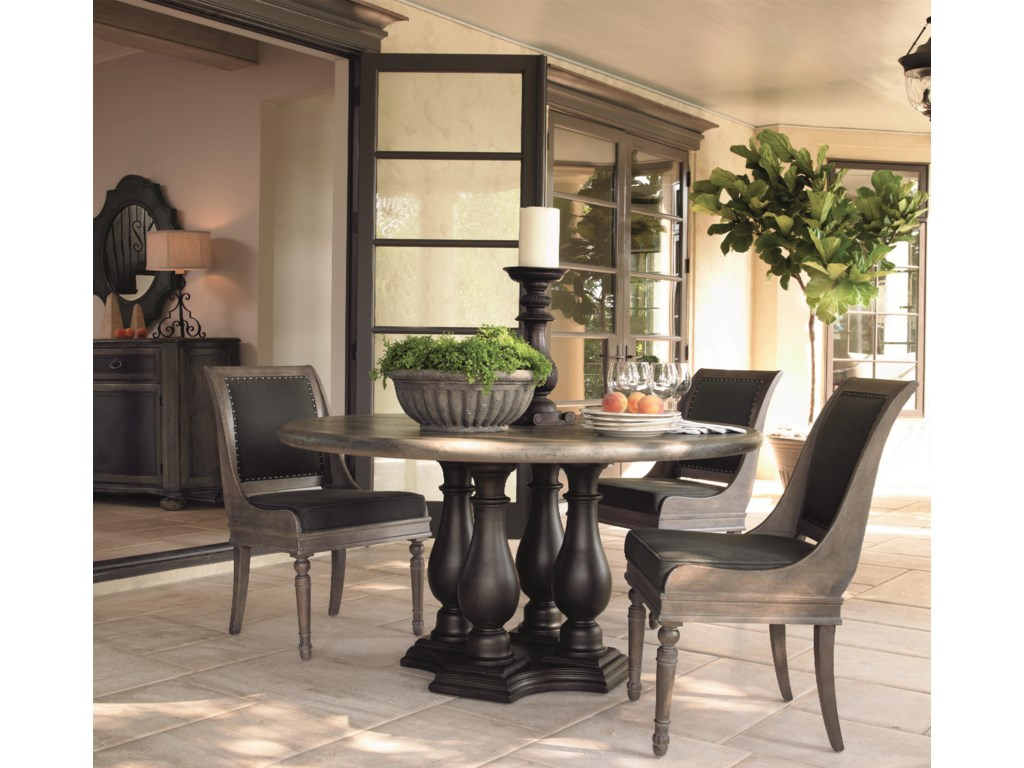 Shown with Coordinating Collection Round Dining Table, Dining Chairs and Mirror