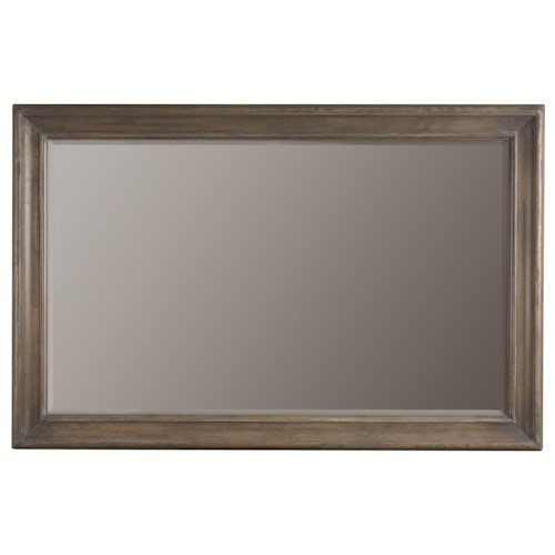 Bernhardt Belgian Oak Accent Wall Mirror with Simple Wood Frame Style