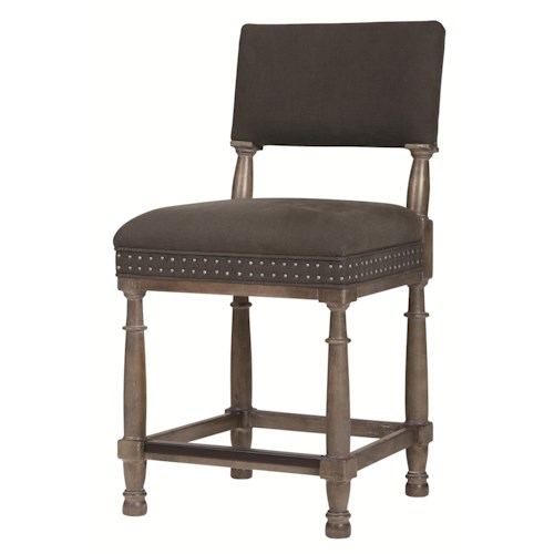 Bernhardt Belgian Oak Transitional Counter Stool with Timeless Modern Style