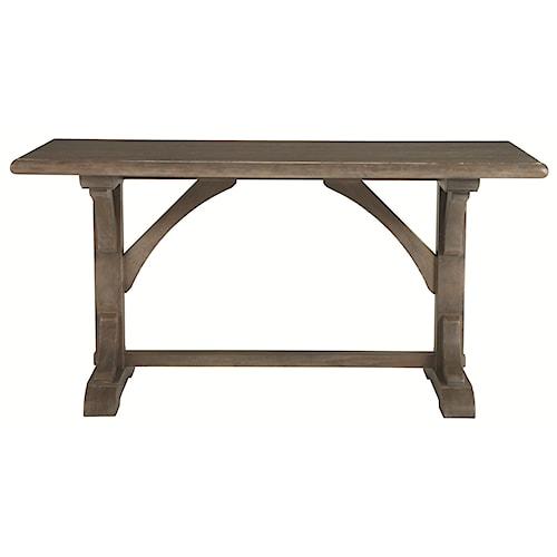 Bernhardt Belgian Oak White Oak Gathering Pub Height Table in Transitional Style