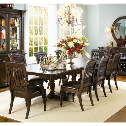 Bernhardt Belmont Double Pedestal Dining Table And 8