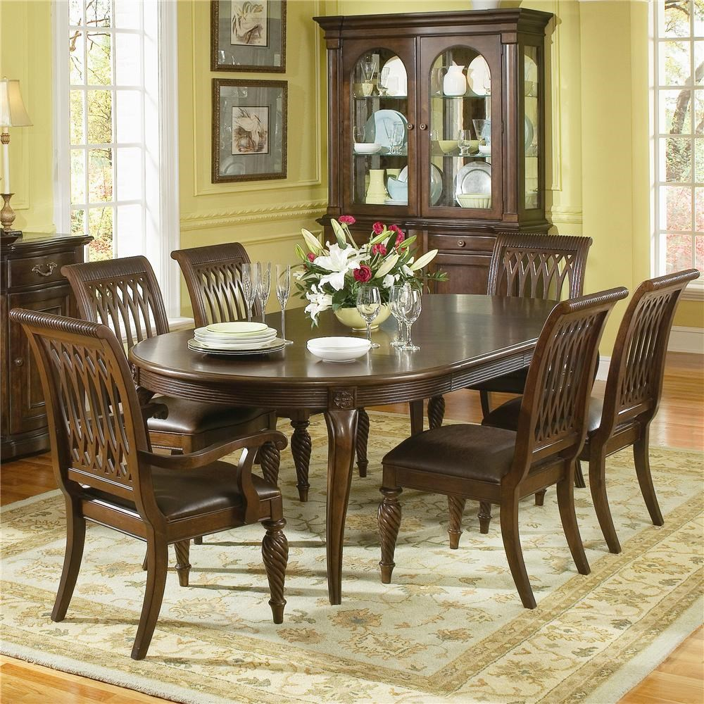 Bernhardt Belmont Round DiningTable And 6 Dining Chairs 7 Piece Dining Set