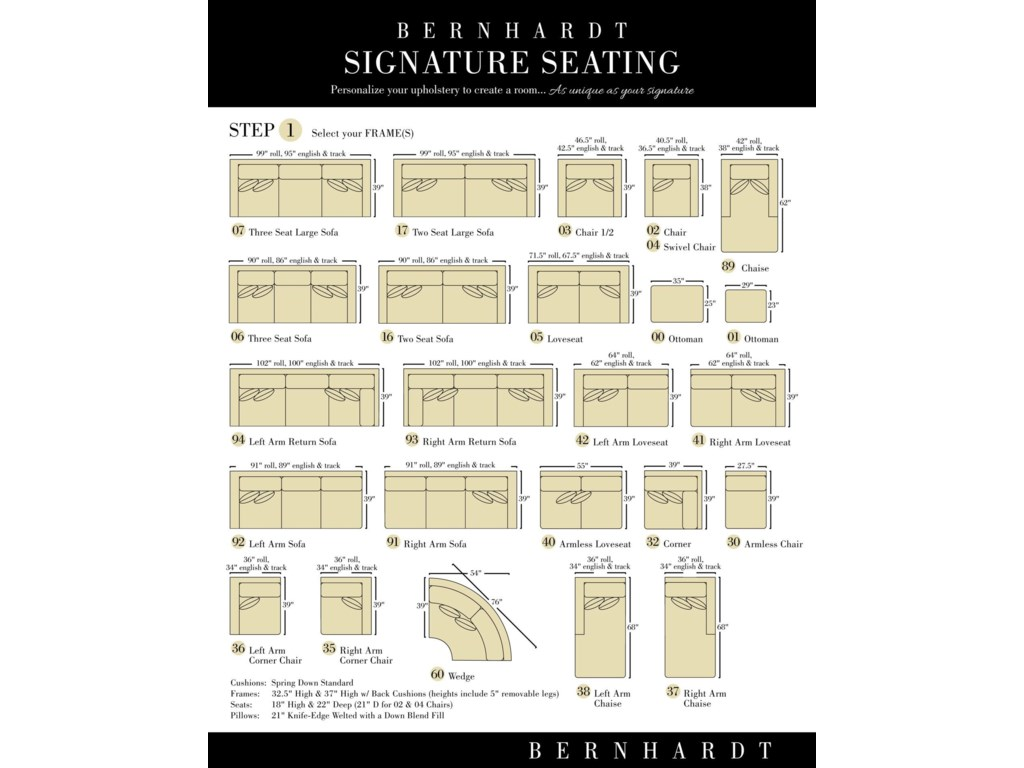 Bernhardt Signature SeatingCustomizable Loveseat