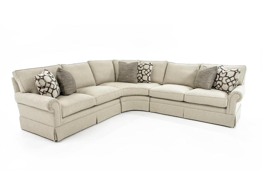 Bernhardt Signature Seating4 Pc Sectional Sofa