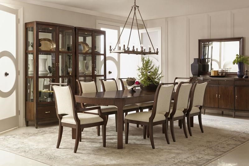 bernhardt beverly glen dining table with fluted legs - adcock