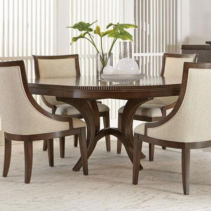 Bernhardt Beverly Glen Round Dining Table With Fluted Edge   Baeru0027s  Furniture   Dining Tables