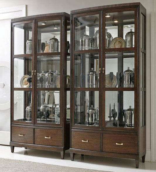 Bernhardt Beverly Glen Display Cabinet with Mirrored Back - Baer's ...