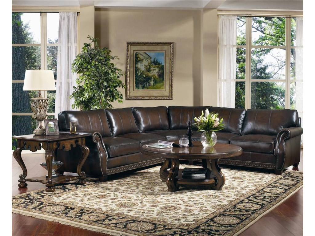 Bernhardt Bradley Leather Sectional