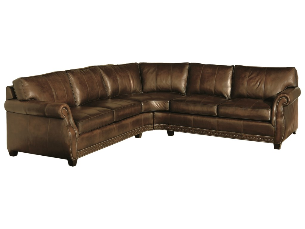 Bradley Leather Sectional by Bernhardt at Baer\'s Furniture
