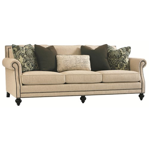 Bernhardt Brae Elegant and Traditional Living Room Sofa with High End Furniture Style