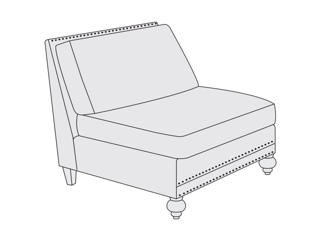 Bernhardt BraeArmless Chair