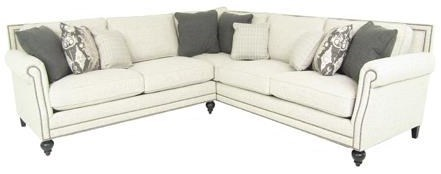 Superbe Bernhardt Brae Five Seat Sectional Sofa With Transitional Style