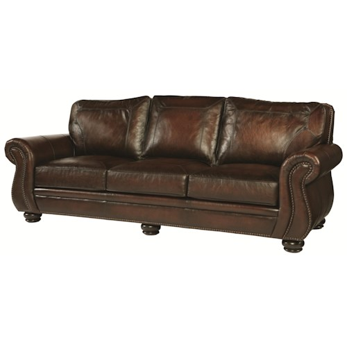 Bernhardt Breckenridge 695 Traditional Styled Sofa With Rustic Elements For Living Room Fashion