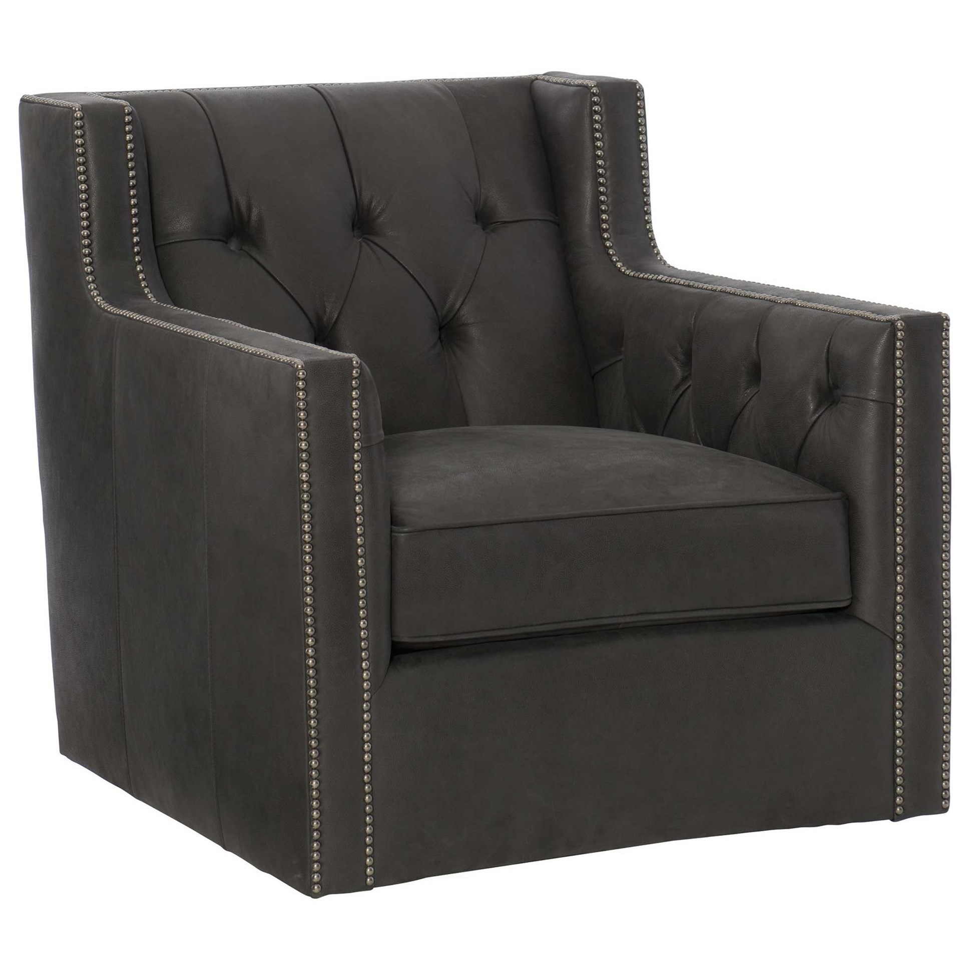 Bernhardt Candace Footless Chair With Nailhead Trim