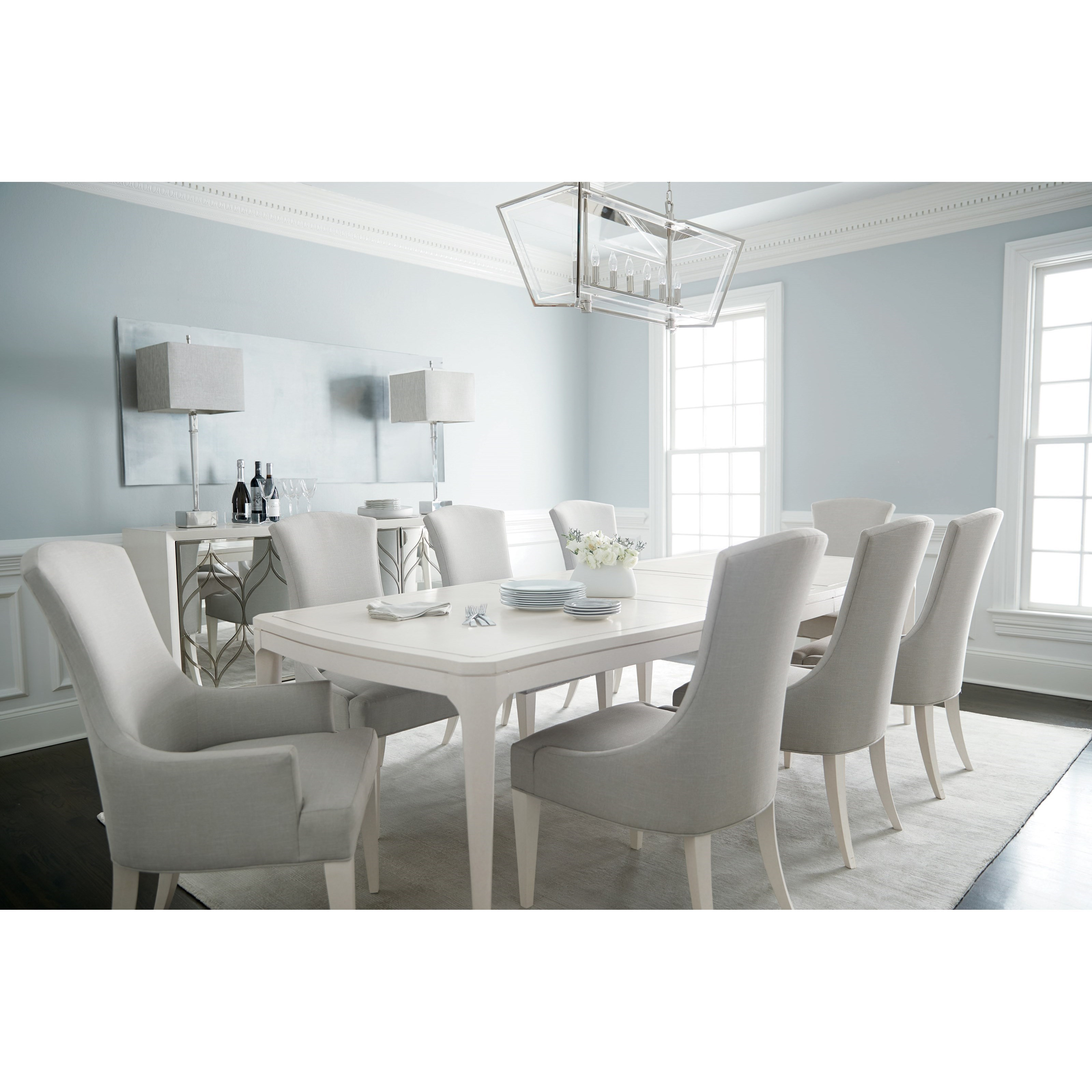 Transitional 9 Piece Table and Chair Set